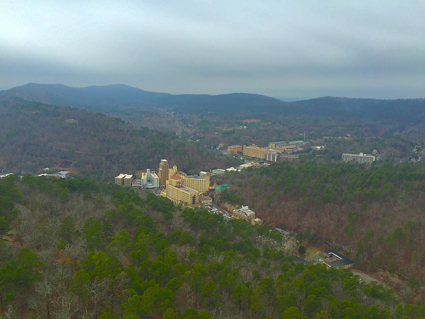 A view from the tower at Hot Springs National Park.