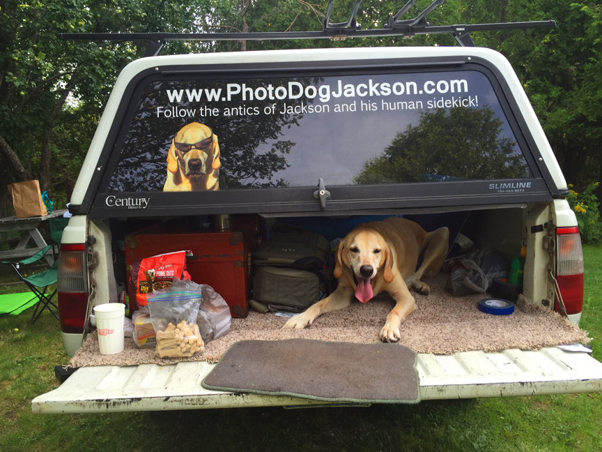 This is where we are camping, woof!