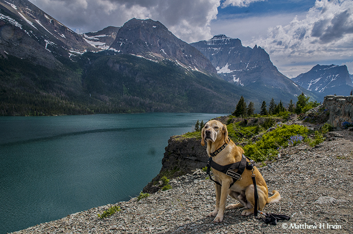 This is St Mary Lake in Glacier National Park I had to get a permit to hike in this park.